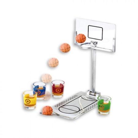 Мини баскетбол с рюмками