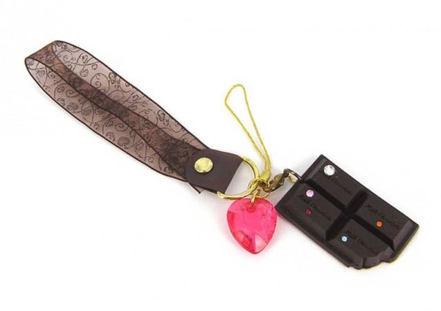 Шоколадка-подвеска с сердечком и чистиком
