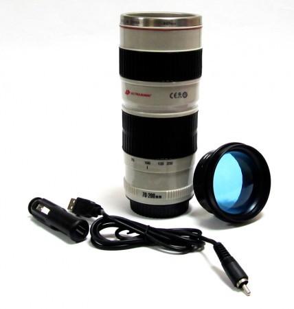 Кружка термос объектив с подогревом SF-28