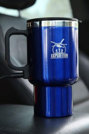 Автокружка с подогревом от прикуривателя 450 мл (синяя)