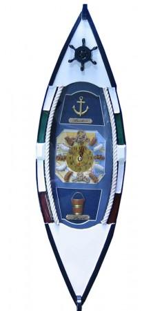 Ключница Лодка с часами