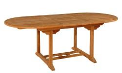 Тиковый стол раскладной овальный ТЕ-150 Т