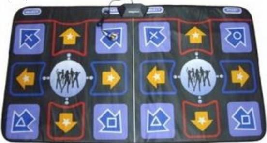 Двойной танцевальный коврик Double Five man 16 bit