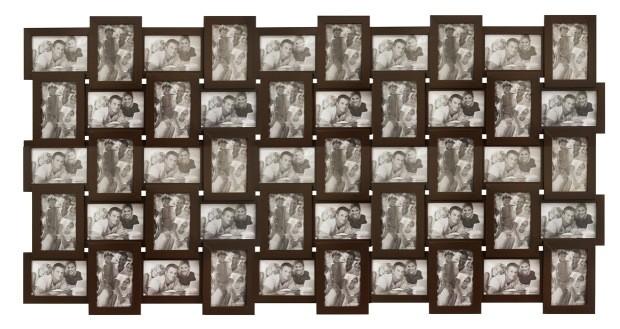 Мультирамка Белое на Черном на 50 фотографий