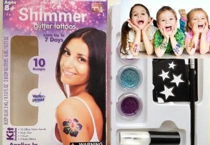 Мерцающие блестящие татуировки Shimmer Glitter tattoos