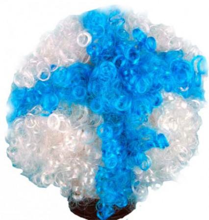 Парик бело - синий
