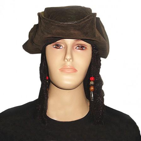 Шляпа Джека Воробья с дредами
