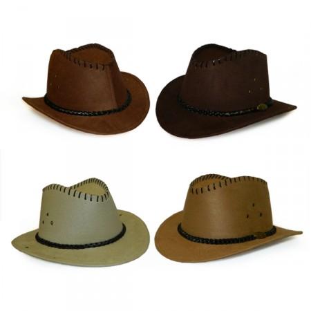 Шляпа Ковбойская замш с маленькими полями