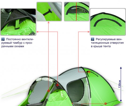 Туристическая палатка Maverick IDEAL Comfort Aluminium
