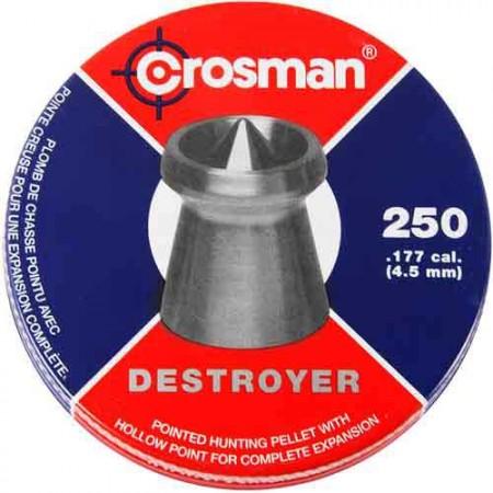 Пульки Crosman Destroyer  250шт DS177