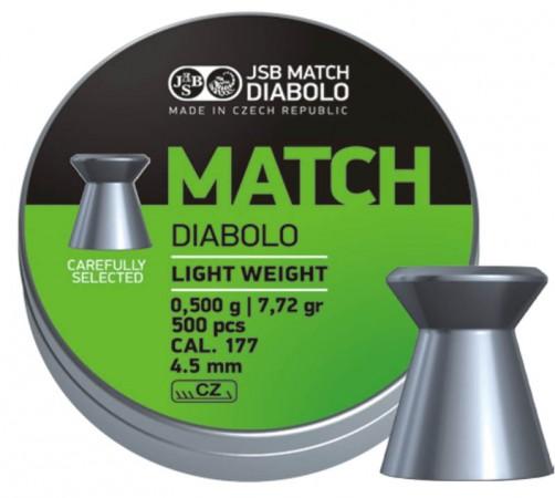 JSB Match Diabolo light  500 шт. кал 4,51  000006-500