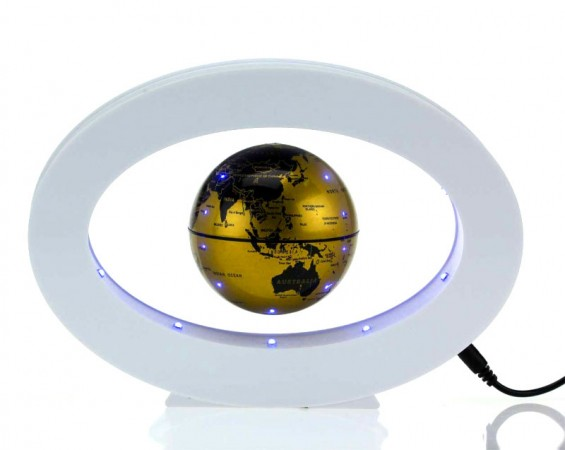 Глобус-левитация овал свет