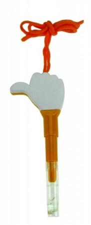 Ручка Рука со свистком и шнурком