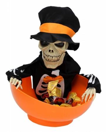 Скелет в шляпе Дай конфетку