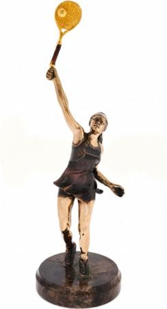 Статуэтка из бронзы Теннисистка
