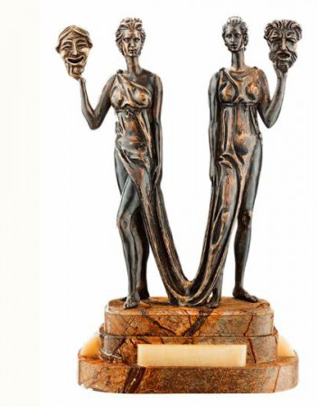 Бронзовая статуэтка  «Талия и Мельпомена»