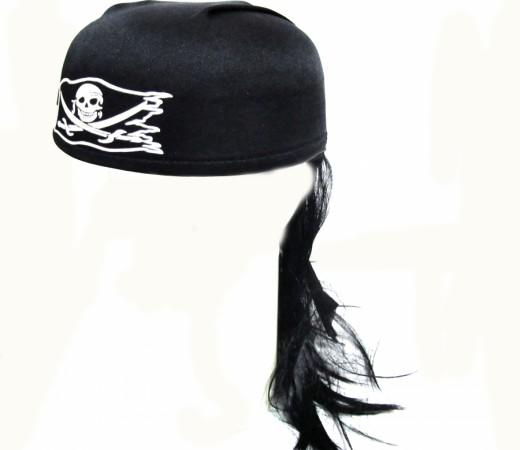 Бондана пирата с волосами