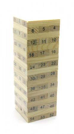 Игра настольная Дженга нумерация