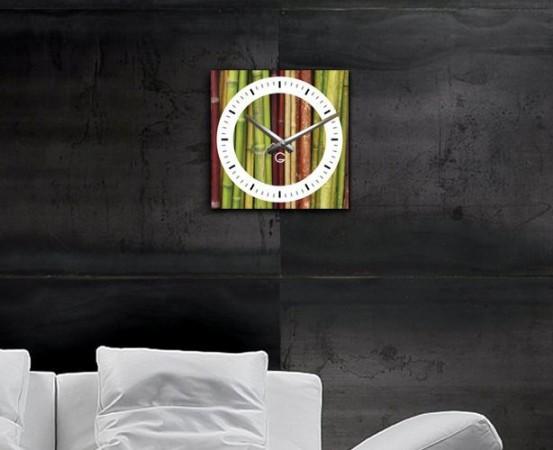 """Настенные часы """"Бамбук"""" C-002"""