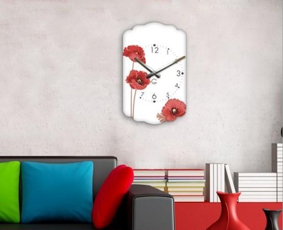 "Настенные часы ""Маки"" C-055"