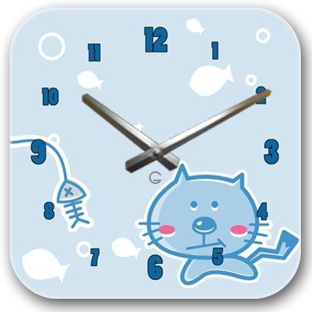 """Детские настенные часы """"Котик"""" C-066"""