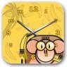 Купить настенные часики в детскую обезьянка