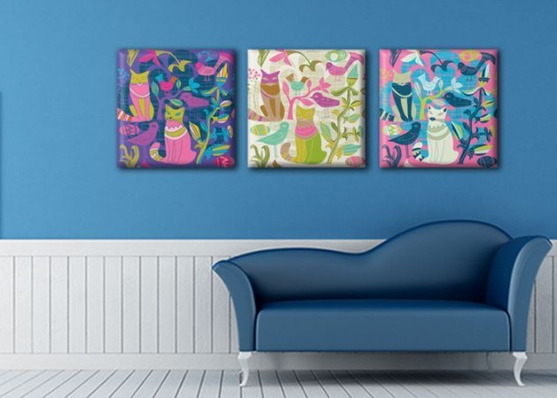 Картина Триптих Cats  (3 картины) D-013