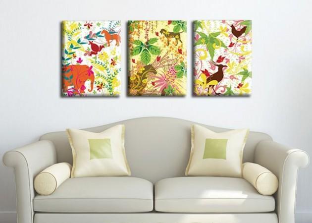 Картина Триптих Jungle  (3 картины) D-014
