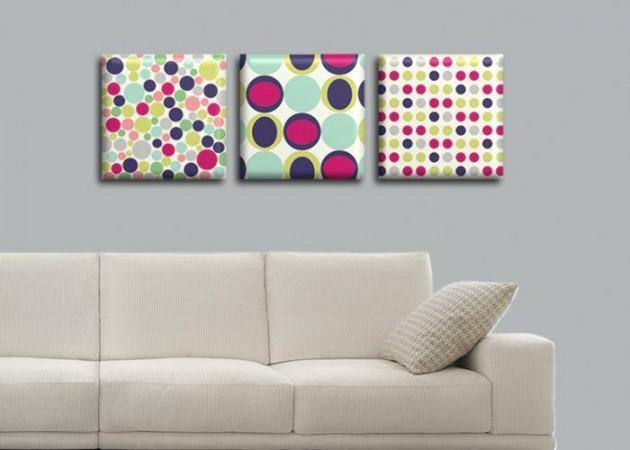 Картина Триптих Dots  (3 картины) D-016