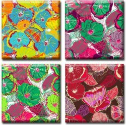 Картина Полиптих Flowers (4 картины) D-020