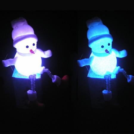 Светильник Снеговик с ножками
