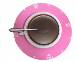 Настенные часы Чашка кофе на блюдце