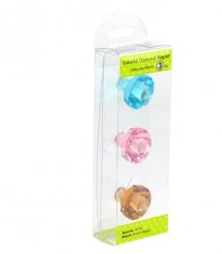 Бриллианты - магниты, 3 шт.набор