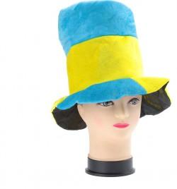 Шляпа желто-синяя