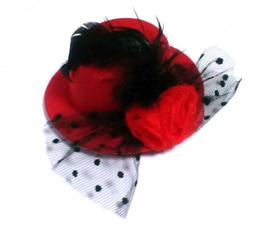 Шляпа маленькая с розой