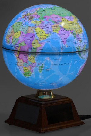 Глобус с подсветкой вращающийся