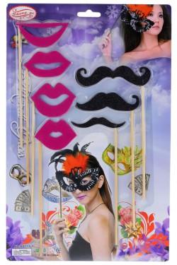 Губы и усы набор для party