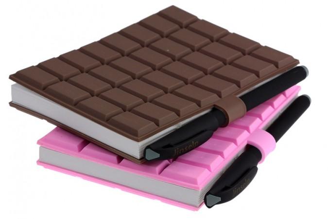 Блокнот шоколадка с ручкой