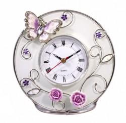 Часы Бабочка на чайной розе