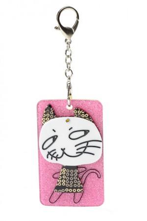 Кредитница с зеркалом Мем - кошка