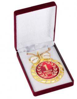 """Медаль deluxe с кристаллами """"1 место"""""""
