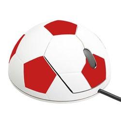 Футбольная мышь (красный)