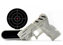 Будильник с пистолетом белый