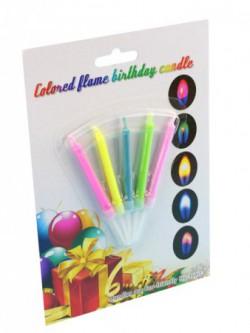 Свечи - цветные огни 5 шт, блистер
