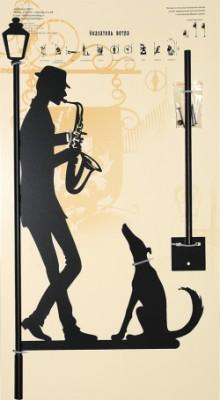 Указатель ветра маленький Саксофонист
