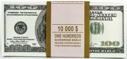 """Пачка """"100 $"""" (подарочная)"""