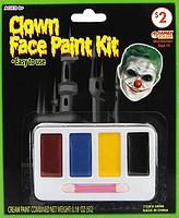 Грим клоуна 4 цвета