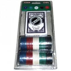 Набор для игры в покер на 60 фишек 48P+B