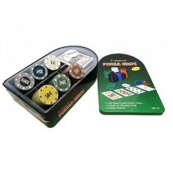 Набор для покера на 120 фишек в железной коробке