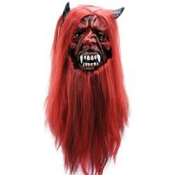 Маска Демон с волосами